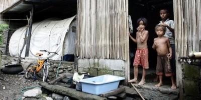 Kampung miskin di Myanmar