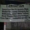 bus wajib shalat
