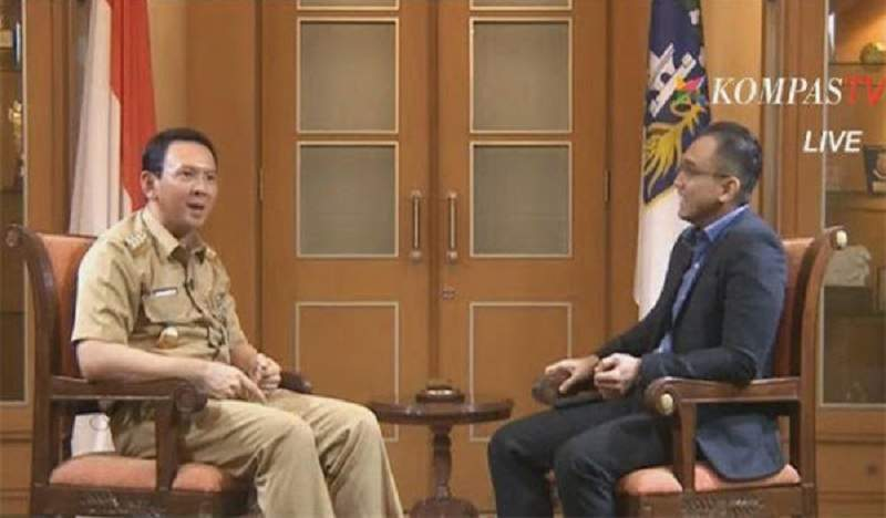 Ahok Wawancara Kompas TV