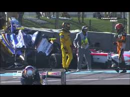 Sean Gelael terlibhat dalam kecelakaan di GP2 Abu Dhabi, Minggu malam waktu setempat. (msports.net)