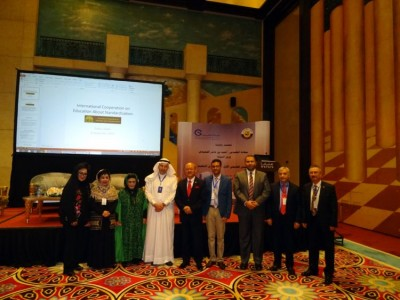 Dubes RI di Doha usai mengikuti acara forum pendidikan standarisasi.