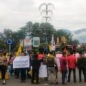 Demo mahasiswa di Garut tuntut bupati dan wakilnya mundur.