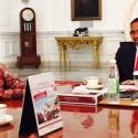 Rio Haryanto ketika bertemu dengan Presiden Jokowi.