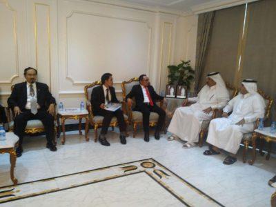 Pertemuan Manaker Qatar dan Indonesia serta Dubes Qatar di Doha. (BD)