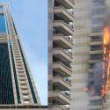 Sufala Tower  di Dubay terbakar. (newsx.com)