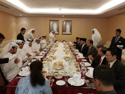 Suasana pertemuan petinggi RI dan Qatar dalam membahas Mou Peradilan.  (bd)