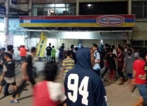 Salah satu mini market korban penjarahan di Penjaringan, Jakarta Utara. (Foto: liputan6)