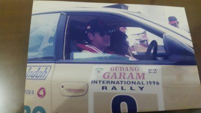 Ricardo Gelael pada salah satu kejuaraan reli. (arl)