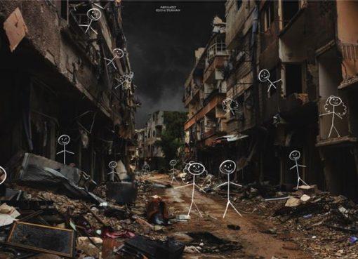 Kondisi Suriah karya Abdulazez Dukhan. (Al Jazeera)