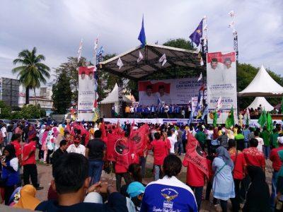 Suasana kampanye Rabu. (AL)