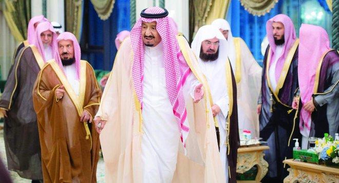 Raja Salman dan rombongan ketika tiba di Makkah. (Foto: Arab News)