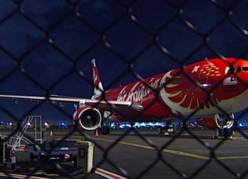 Pesawat AirAsia X yang mengalami masalah setelah mendarat di Brisbane. (Foto: ABC News/BBC News)