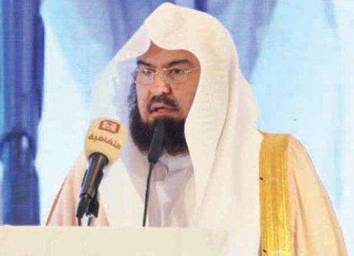 Kepala Presidensi Umum Urusan Dua Masjid Suci, Abdulrahman Al-Sudais. (Foto: Arab News)