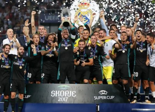 Tim Real Madrid, jura Piala Super Eropa 2017. (Foto: http://www.uefa.com)