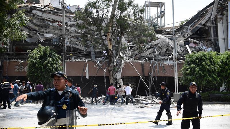 Gempa di Meksiko.(Foto: AFP/Al Jazeera)