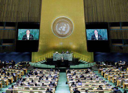 Menteri luar negeri Korea Utara Ri Yong-ho mengatakan pada Sidang Umum PBB, baru-baru ini, mereka mentargetkan daratan utama AS dengan roketnya. Itu tidak bisa dihindari. (Foto: Reuters/Al Jazeera)