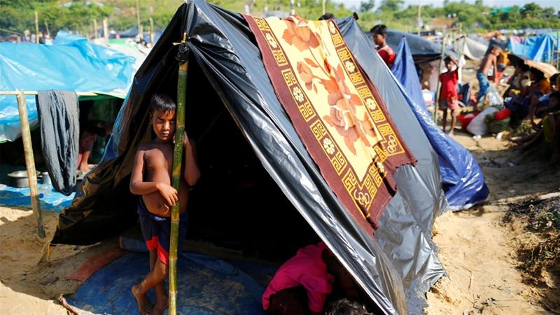 Seeorang anak Rohingya di tempat penampungan.(Foto: REuters/Al Jazeera)