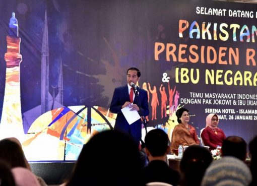 Presiden Joko Widodo saat bertemu WNI di Pakistan, Jumat.(Foto: biro pers Kemenag)