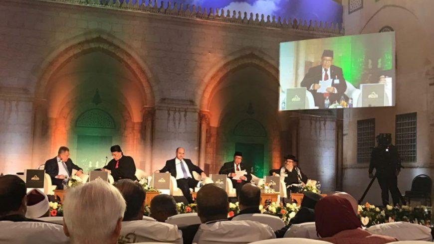 Menag Lukman jadi Pembicara Kunci pada Konferensi Internasional di Mesir. (Foto: Website Kemenag)
