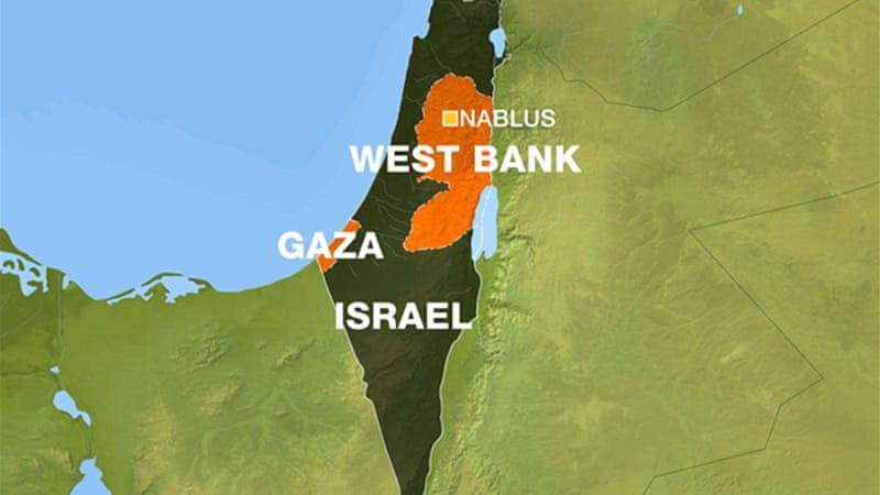 Peta Tepi Barat (Foto: All Jazeera)