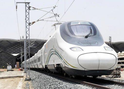 Uji coba kereta api cepat (train) Haramain Express berhasil. (Foto: Arab News)