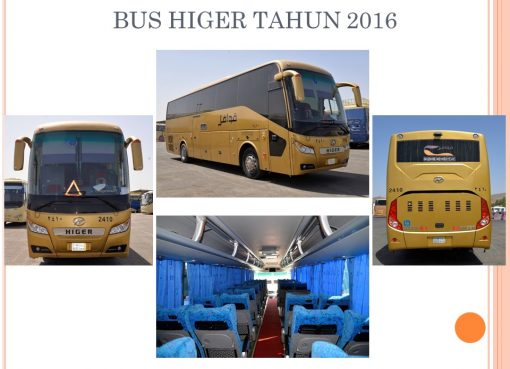 Salah satu armada bus transportasi antar kota haji di Saudi yang akan digunakan pada musim haji tahun 2018. (Foto: Ditjen PHU/Kemenag)