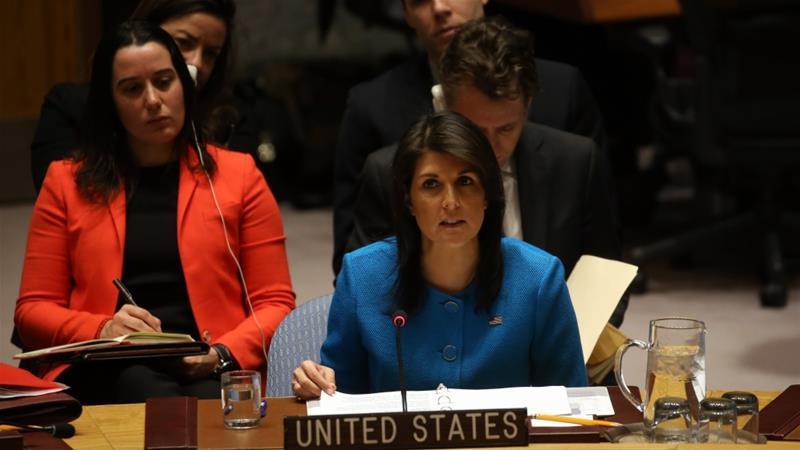 Nikki Haley, Duta Besar AS untuk Persatuan Bangsa Bangsa (PBB). (Foto: Anadolo/Al Jazeera)
