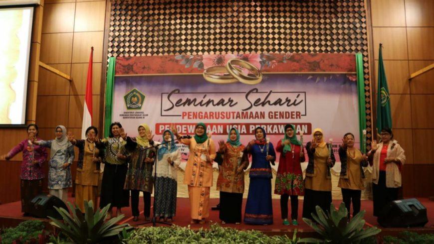 """Seminar Sehari dengan Tema """"Pendewasaan Usia Perkawinan."""" (Foto: kemenag.go.id)"""