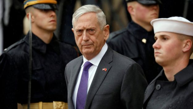 Jenderal Mattis mengumumkan pengunduran dirinya pada bulan Desember. (Foto: Reuters/BBC News)