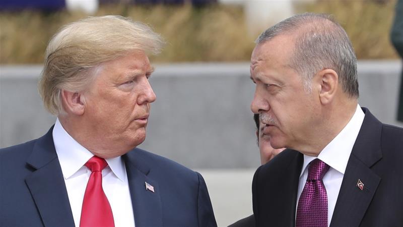 Recep Tayyip Erdogan dan Donald Trump dalam suatu kesempatan. (File: Layanan Presidensi Pers via Associated Press/Al Jazeera)