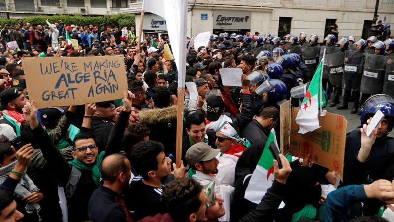 Demonstrasi adalah gambaran ketidakpuasan terbesar di Aljazair sejak 2011. (Foto/Reuters/Al Jazeera
