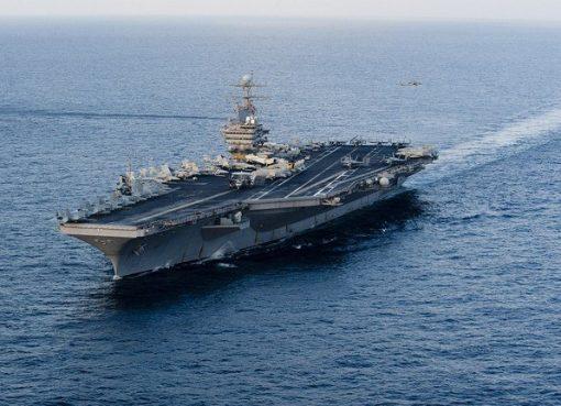 Kapal induk Abraham Lincoln dan pendukungnya berupa kapal dan pesawat tempur telah beroperasi di Laut Mediterania baru-baru ini. Foto (File AFP/Arab News)