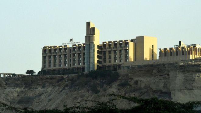 The Zaver Pearl Continental Hotel populer di kalangan pengunjung asing. (Foto:AFP/BBC News)