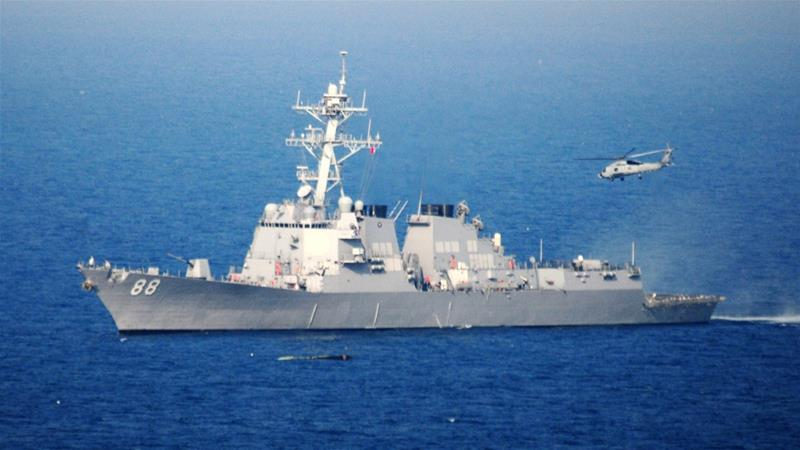 Kapal perang perusak milik AS Preble. (File: Navy Visual News Service/EPA/Al Jazeera)