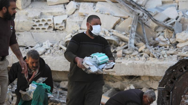 Salah satu rumah sakit korban pengeboman dalam perang di Suriah. (Reuters/Al Jazeera)