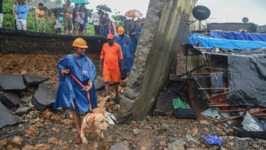 Korban tewas akibat runtuhnya tembok di daerah kumuh Mumbai naik menjadi 26 orang. (Foto: AFP/France24)