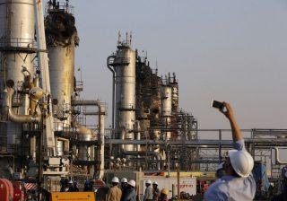 Fasilitas minyak Arab Saudi yang menjadi target serangan, (Foto AP/Arab News)