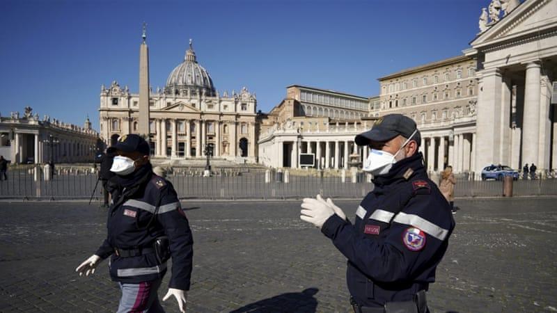 Italia pada hari Minggu lalu melaporkan terjdinya peningkatan besar dalam kematian akibat virus corona. Gambar menunjukan salah satu tempat di Italia. (Foto: AP/Al Jazeera)