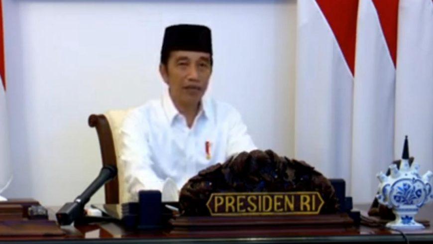 Presiden Jokowi dalam kegiatan Doa Kebangsaan dan Kemanusiaan, Kamis (14/5).(Foto: https://kemenag.go.id)
