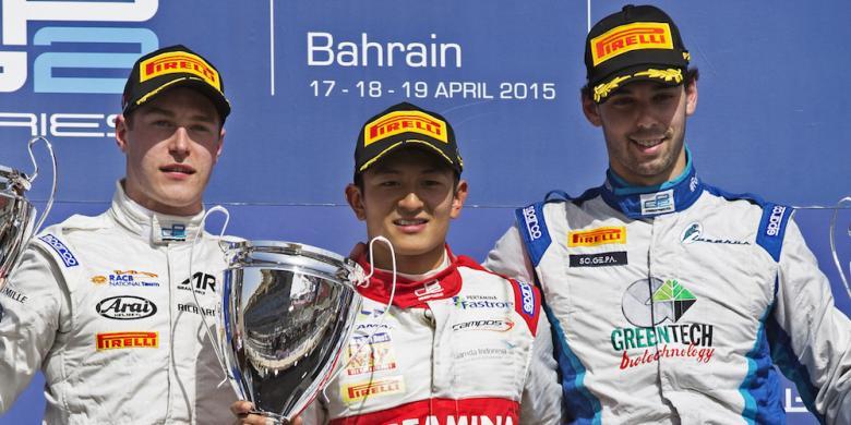 Rio Haryanto juara di GP2 Bahrain