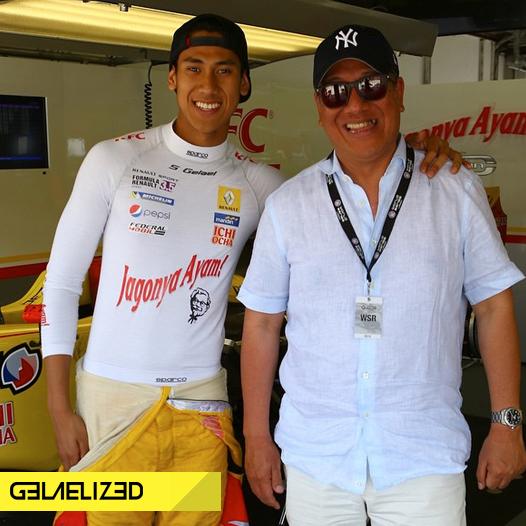 Sean bersama ayahnya Ricardo Gelael