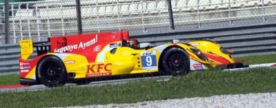 Sean Gelael sedang beraksi dalam test Le Mans Asia di Sepang, Malaysia.  (seangp)