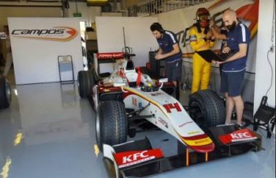 Sean Gelael test bersama Tim Campos, di Abu Dhabi, 2-4 Desember 2015.
