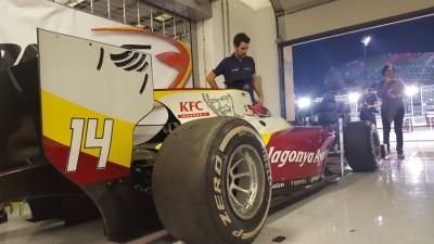 Sean Gelael test GP2 bersama tim Campos di Abu Dhabi. (seangp)
