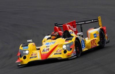 Sean Gelael menggenjot mobilnya pada Le Mans Asia di Sepang.