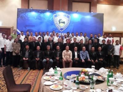 Pengurus Pengprov IMI bersama Tommy Soeharto silaturahim di Jakarta, Senin. (arl)
