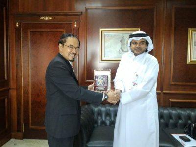 Dubes RI untuk Qatar Marsekal Madya TNI (Purn) Muhammad Basri Sidehabi. (ist)