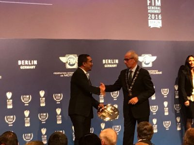 Penghargaan FIM kepada IMI.  (ist)