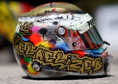 Inilah helm yang menjadi perhatian selama laga GP2 2016 sehingga pantas mendapat penghargaan.  (seangp)