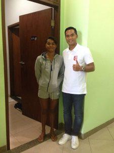 Azzahra dan Anindya Bakrie foto saat mengunjungi pelatnas di Bali beberapa waktu lalu.  (ist)